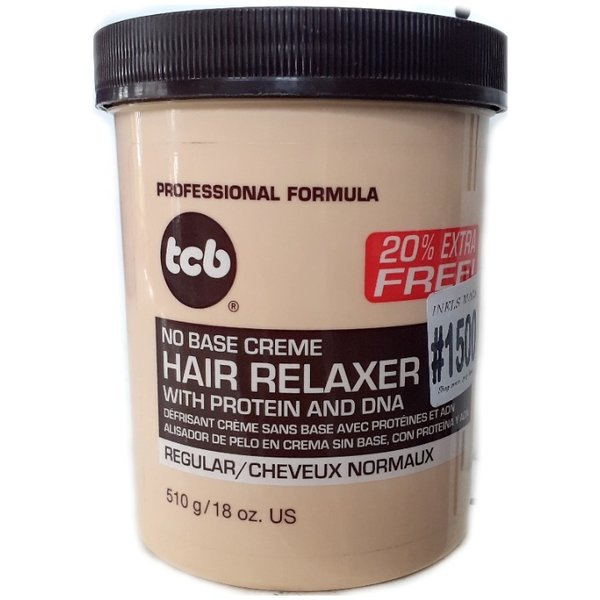 TCB No Base Hair Relaxer With Protein And DNA - REGULAR 15oz 510g Haarglättungscreme
