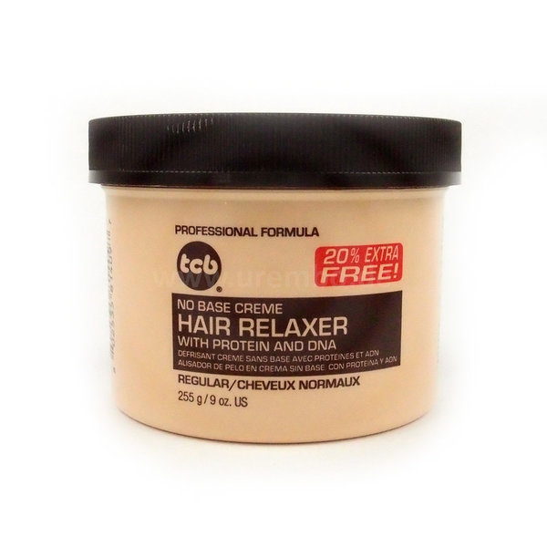 TCB No Base Hair Relaxer With Protein And DNA - REGULAR 7.5oz 255g Haarglättungscreme