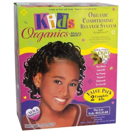 Africa's Best Kids Organic Relaxer System Regular Value Pack 2 Complete Kits