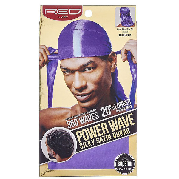 Red by Kiss Wave Cap Power Wave Silky Satin Durag Purple
